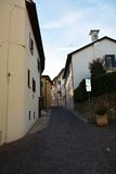 Conegliano Veneto, street and historical buildings Royalty Free Stock Photography