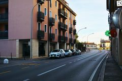 Conegliano view of streets, Treviso Royalty Free Stock Image