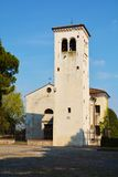 Conegliano and white tower. The medieval white tower at the Castello, the most famous castle in Conegliano, in Veneto, north Italy Stock Photography
