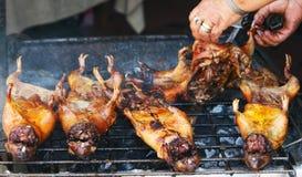 Conejillos de Indias asados en Ecuador Foto de archivo libre de regalías