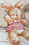 Conejito bordado Foto de archivo libre de regalías