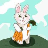 Conejito con la zanahoria ilustración del vector