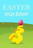 Conejito de la yoga de Pascua libre illustration
