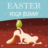 Conejito de la yoga de Pascua ilustración del vector