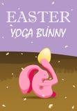 Conejito de la yoga de Pascua stock de ilustración
