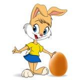 Conejito de pascua con el huevo stock de ilustración