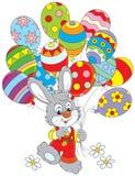 Conejito de pascua con los globos libre illustration