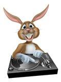 Conejito de pascua de la historieta DJ Foto de archivo