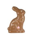 Conejito de pascua del chocolate aislado con el camino Imagenes de archivo