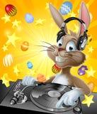 Conejito de pascua DJ stock de ilustración