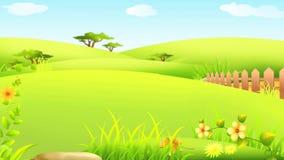 Conejito de pascua feliz que camina con el huevo grande colorido ilustración del vector