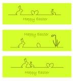 Conejito de pascua, huevos de Pascua, y narciso Imagen de archivo