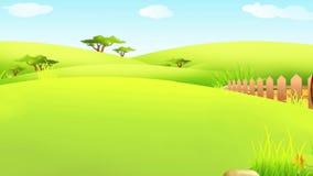 Conejito de pascua que camina con los huevos libre illustration