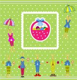 Conejito de pascua. tarjeta de pascua Fotografía de archivo libre de regalías