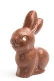 Conejito del chocolate con el ojo blanco del chocolate imagenes de archivo