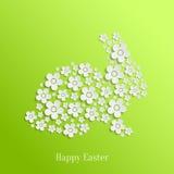 Conejito del conejo de Pascua de las flores blancas libre illustration