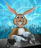 Conejito DJ del partido de Pascua de la historieta Fotos de archivo libres de regalías
