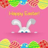 Conejito feliz del conejo de Pascua Foto de archivo