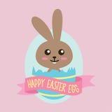 Conejito feliz del huevo de Pascua Foto de archivo libre de regalías