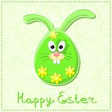 Conejito feliz lindo del conejo de Pascua stock de ilustración