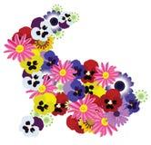 Conejito floral del vector stock de ilustración