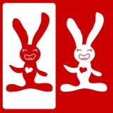 Conejito lindo de Pascua stock de ilustración