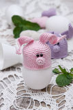 Conejito lindo para los huevos de Pascua Imágenes de archivo libres de regalías