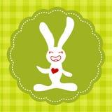 Conejito sonriente de Pascua Imágenes de archivo libres de regalías