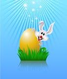 Conejito y huevo de Pascua. Fotos de archivo libres de regalías