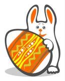 Conejito y huevo de Pascua Imagen de archivo libre de regalías