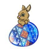 Conejito y huevo de pascua Foto de archivo libre de regalías