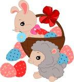 Conejito y ovejas de la historieta libre illustration