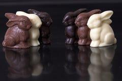 Conejitos de pascua del chocolate Foto de archivo libre de regalías