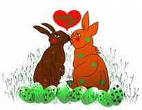 ¡Conejitos de pascua felices! Imagen de archivo libre de regalías