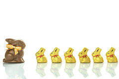 Conejitos del chocolate de Pascua Imagen de archivo