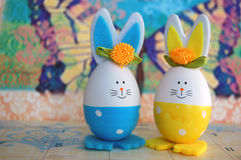 Conejitos del huevo de Pascua Imagen de archivo libre de regalías