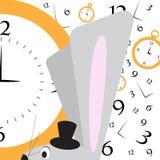 Conejo agitated con el reloj Fotos de archivo libres de regalías
