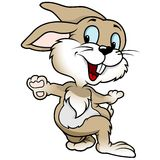 Conejo alegre stock de ilustración