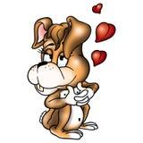 Conejo amoroso ilustración del vector