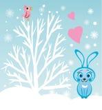Conejo bajo el árbol Fotos de archivo libres de regalías