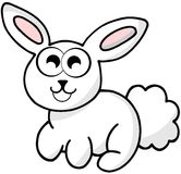 Conejo blanco agradable aislado ilustración del vector