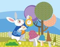 Conejo blanco de la imagen del vector stock de ilustración