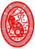 Conejo chino del zodiaco stock de ilustración