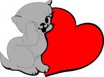 Conejo con el corazón Foto de archivo