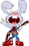 Conejo con la guitarra Fotografía de archivo
