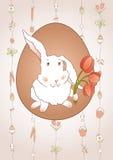 Conejo con los tulipanes