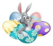 Conejo de la clara de huevo de Pascua Imagenes de archivo
