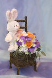 Conejo de la flor Foto de archivo libre de regalías