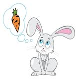 Conejo de la historieta Fotos de archivo libres de regalías