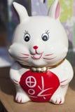 Conejo de la porcelana Fotografía de archivo libre de regalías
